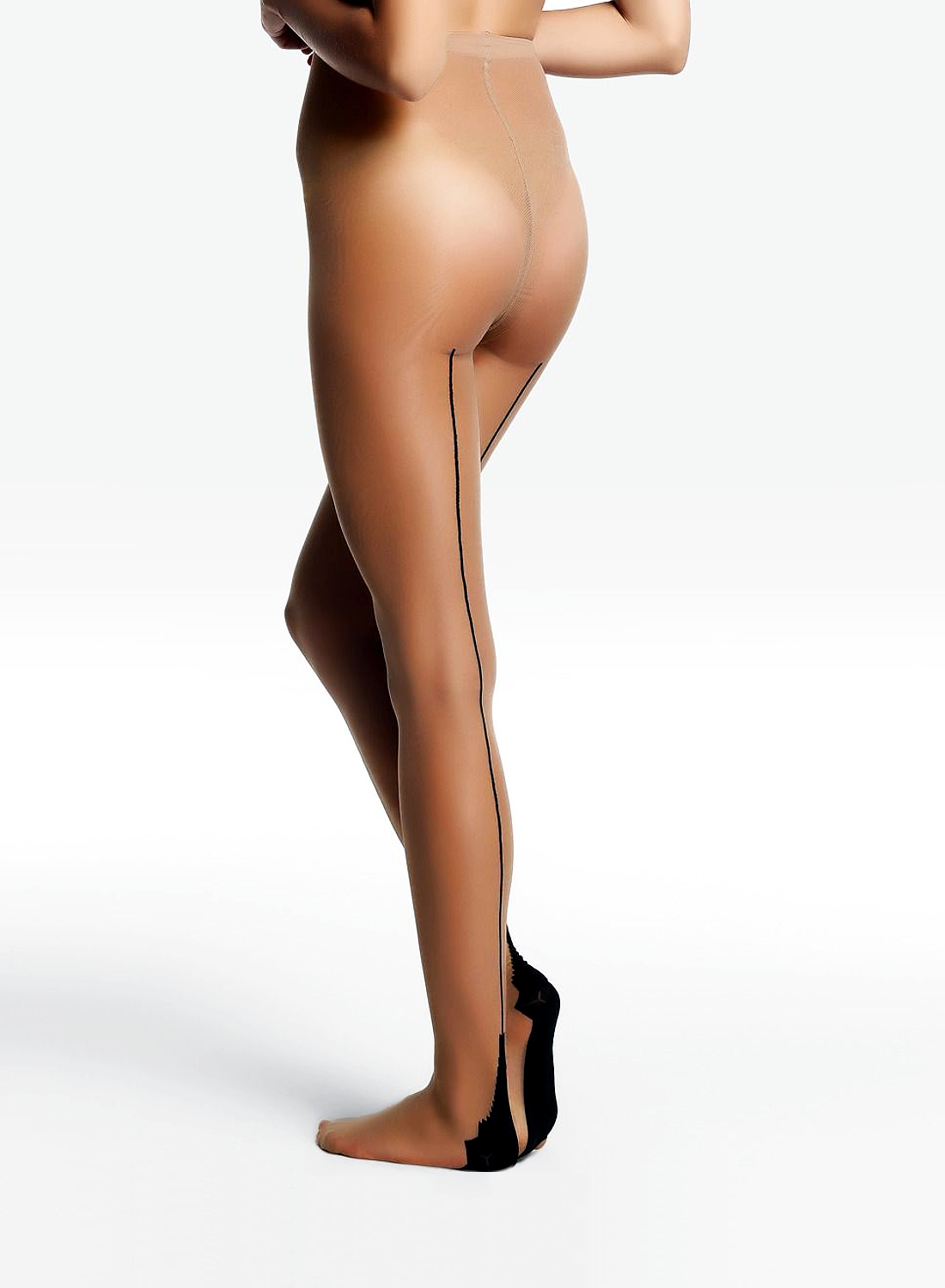 Platino Louvre back seam tights